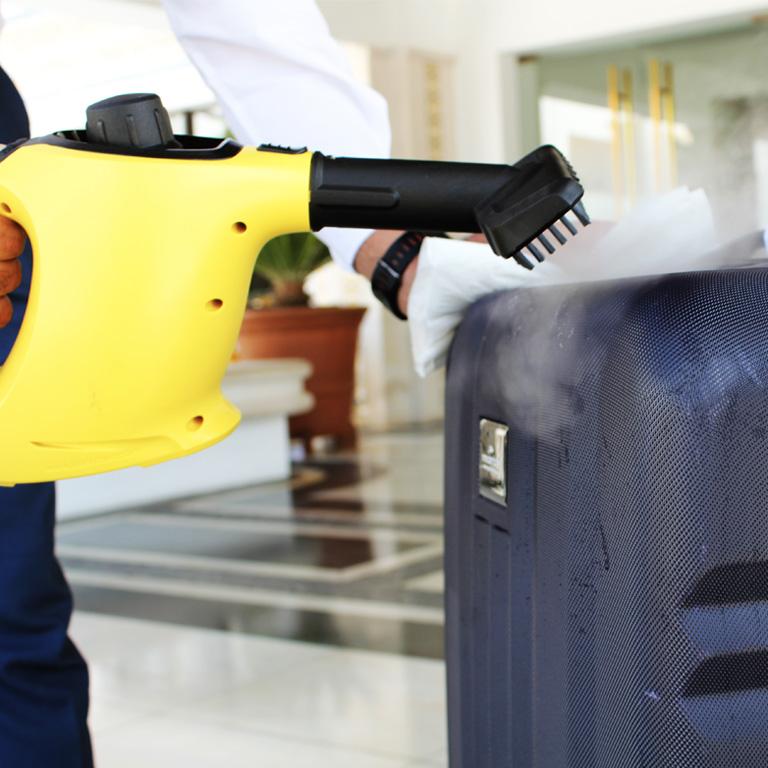 Desinfeção bagagem